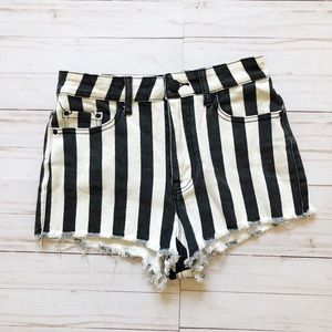 Urban Outfitters BDG  striped high waist shorts